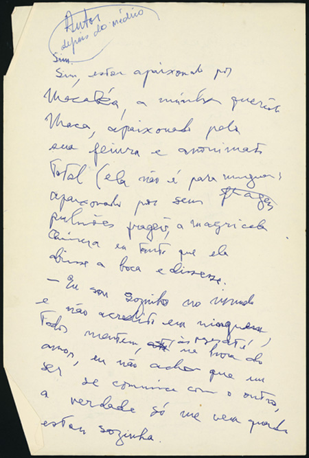 Os Manuscritos De Clarice Lispector Alquimia Da Escrita Blog Do Ims