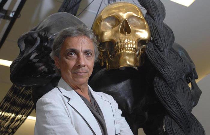 """Tunga, """"a luz de dois mundos"""" no Palacete das Artes Rodin Bahia. Foto de Márcio Lima"""