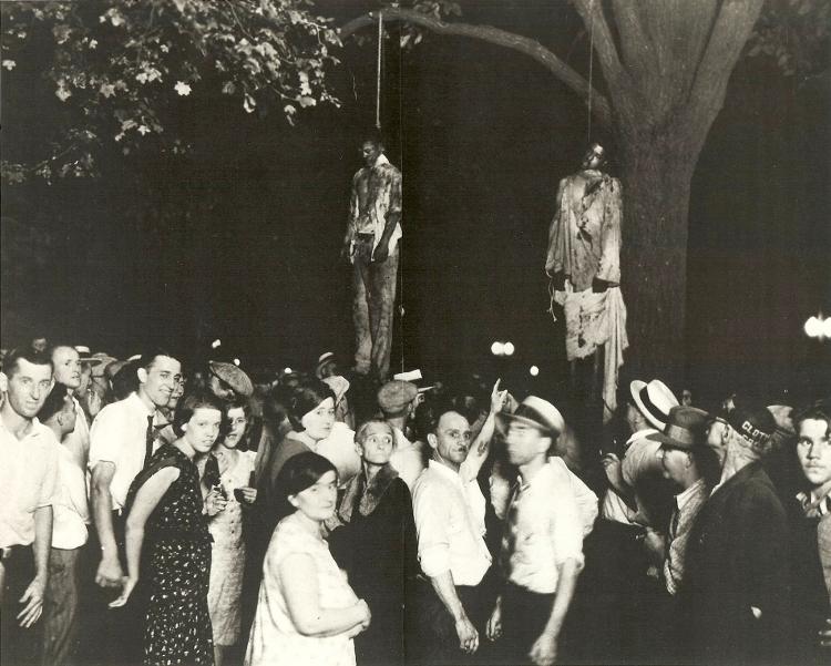 Fotografia de Lawrence H. Beitler, em O cidadão Meeropol (Biblioteca do Congresso/EUA)