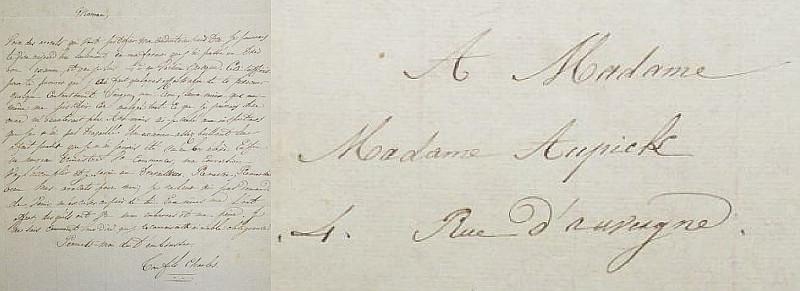 Uma das cartas de Baudelaire à mãe.