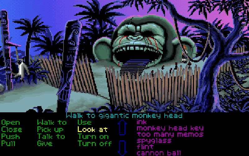 Cena da versão para PC/VGA de The secret of Monkey Island (1990)