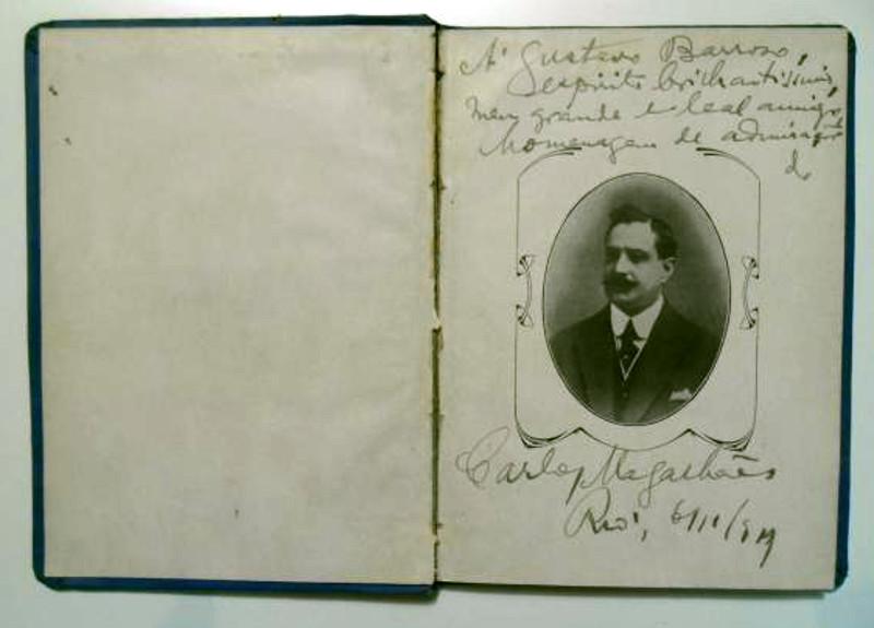 Folha de rosto autografada da primeira edição de Poesias (1919)