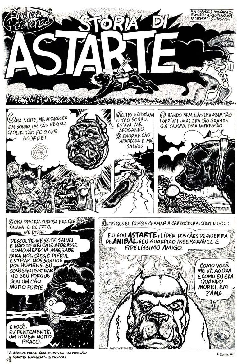 """""""História de Astarte"""", publicada na revista Animal"""