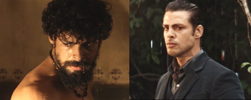 Cauã Redmond como os gêmeos Omar e Yaqub em cenas da minissérie