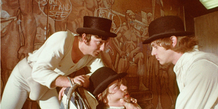 Cena do filme Laranja Mecânica, de Stanley Kubrick